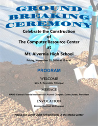 MAHS ground breaking ceremony